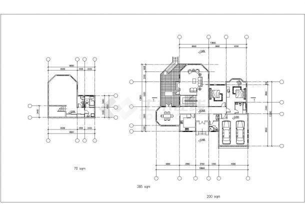某地18.9m x 13.2m别墅bob电竞app设计图纸-图一