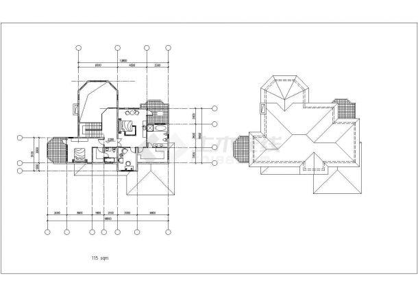 某地18.9m x 13.2m别墅bob电竞app设计图纸-图二