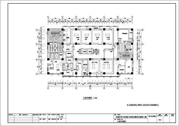 医院设计_某19层某市中医院门诊综合楼室内装饰工程施工CAD图-图一