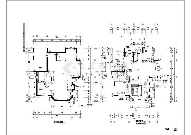 武汉某社区4百平米2层砖混结构别墅楼全套建筑设计CAD图纸(含结构图)-图一