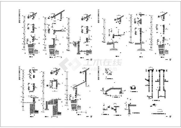 武汉某社区4百平米2层砖混结构别墅楼全套建筑设计CAD图纸(含结构图)-图二