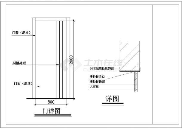 科技园人才公寓内家庭室内装修cad施工图顶面布置图-图二