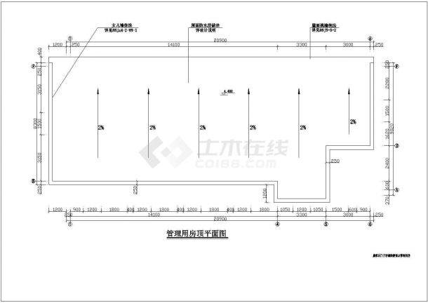 康家石门子旅游景点管理用房设计cad全套建筑施工图(含设计说明)-图二