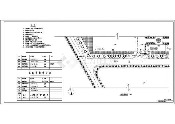 某纺织公司一层框架结构传达室设计cad全套建筑施工图(含设计说明)-图二