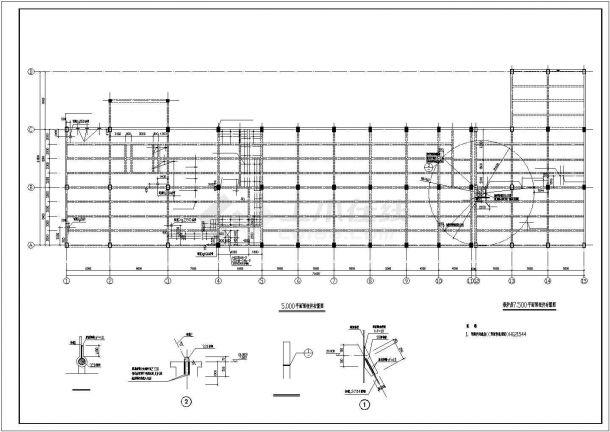 昆山某2层联合厂房框架结构设计全套施工cad图-图二