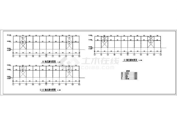 某电器厂多层钢结构厂房设计cad全套建筑施工图(含结构设计)-图一