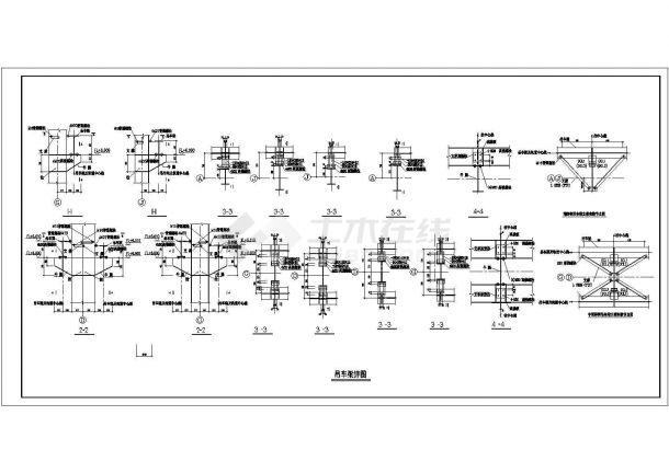 某电器厂多层钢结构厂房设计cad全套建筑施工图(含结构设计)-图二