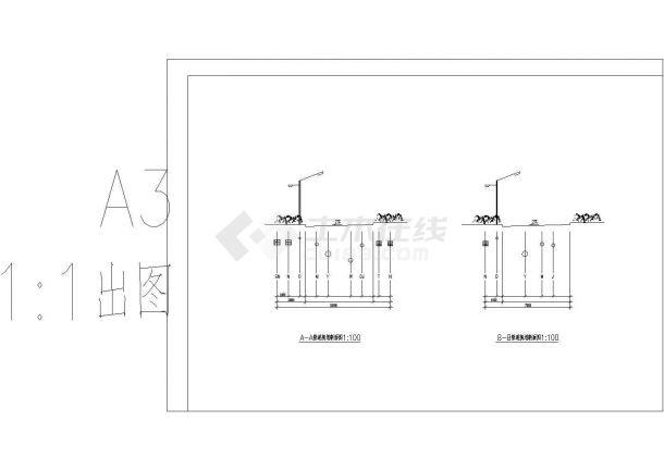 室外综合管线图-图一
