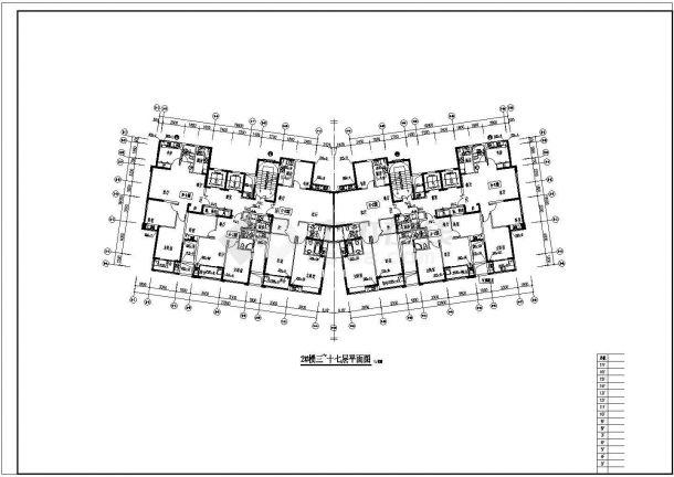 [浙江]多层商住楼给排水消防施工图cad图纸-图二