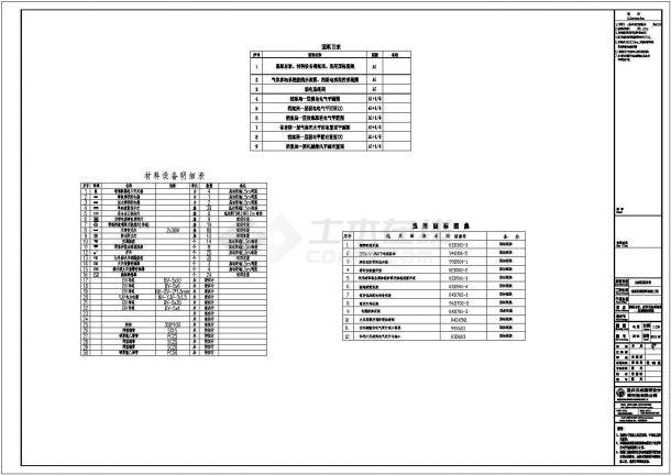 某库房改扩建项目消防工程配电设计cad全套电气施工图(含招标文件)-图一