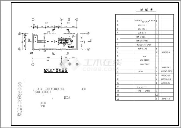某地标准变配电所电气设计图纸-图二
