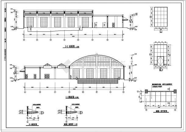 某游泳池、桑拿给排水工程设计cad图纸-图二