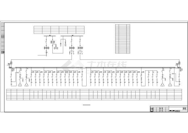 某机械工厂变电所全套电气设计图纸-图一