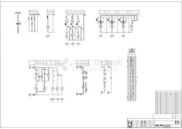 某机械工厂变电所全套电气设计图纸-图二