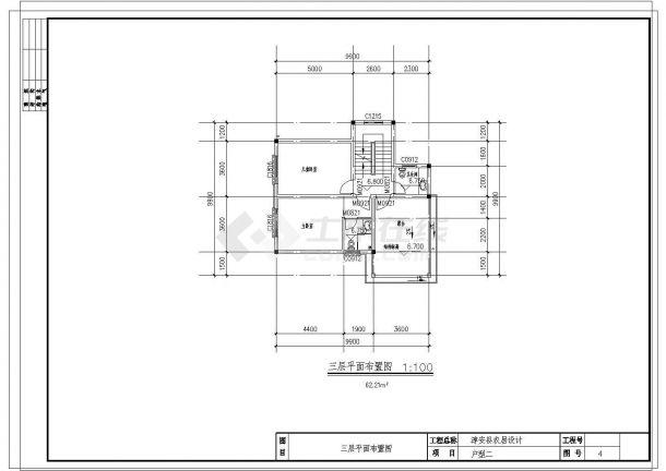 三层单家独院式别墅建筑设计施工图-图一