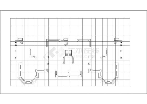 500平米2层双拼式砖混结构别墅住宅楼建筑设计CAD图纸(1楼2户)-图一
