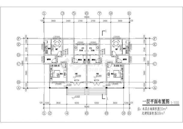 上海市崇明区某村镇500平三层砖混结构高档独栋别墅建筑设计CAD图纸-图二
