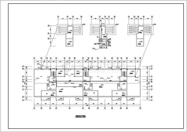 上海嘉定区某小区11层住宅给排水系统设计CAD图纸-图一