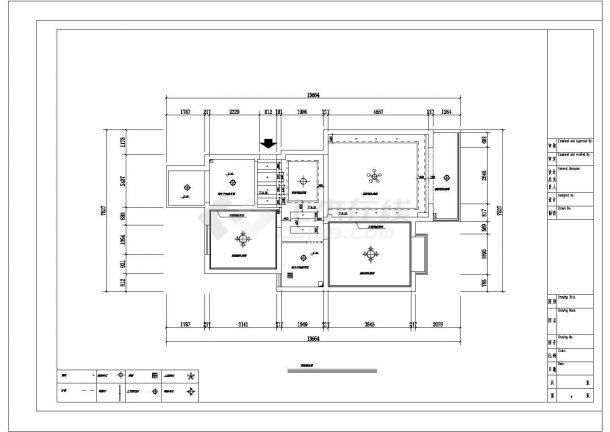 某两室两厅的私人住宅室内装修设计cad图纸(含效果图)-图一