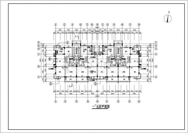 武汉某小区3#多层住宅楼bob电竞app设计施工图(含平立剖)-图二