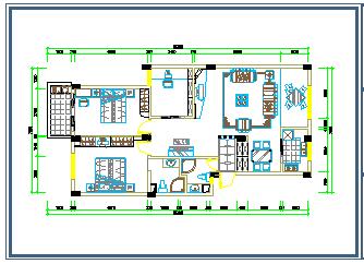 高层家居室内装修cad平面布置图纸-图二