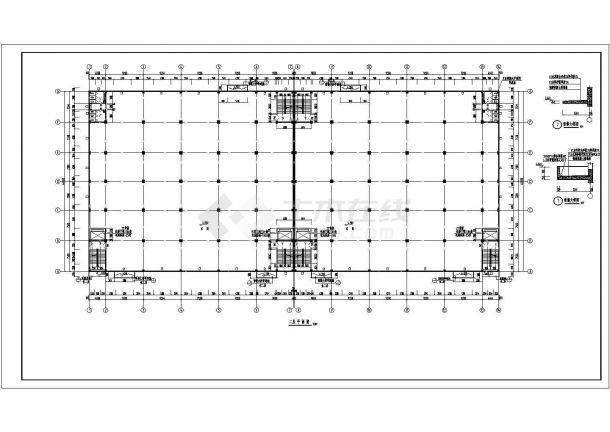厂房设计_某两层厂房建筑施工图设计CAD图-图一