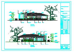 长23米 宽10米 单层景区茶室建筑施工图纸(含设计说明)-图一