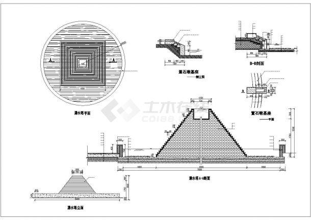 洛阳市某大型景区内部经典园林景观设计CAD图纸-图一