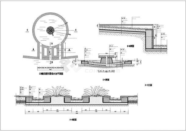洛阳市某大型景区内部经典园林景观设计CAD图纸-图二