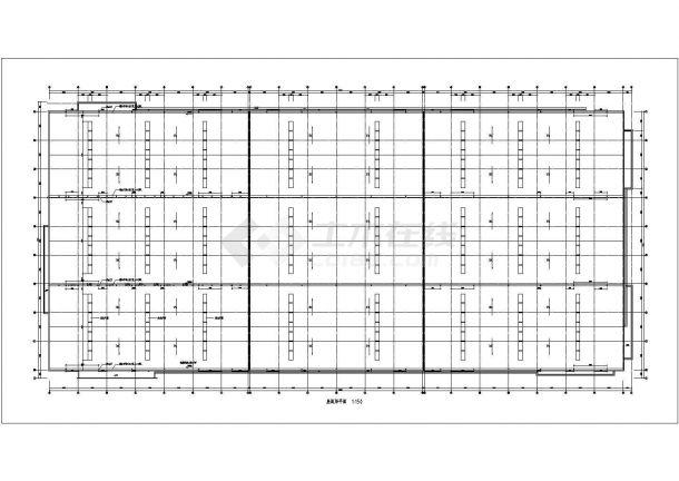 车间设计_钢筋混凝土结构食品加工生产车间建施CAD图-图一
