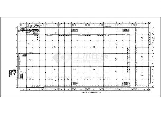 车间设计_钢筋混凝土结构食品加工生产车间建施CAD图-图二