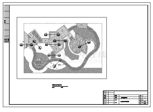 某园林花卉博览会人民公园园林景观设计cad图(带效果图,共十四张)-图二