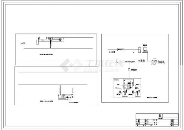 [湖南]某法院弱电系统设计cad全套监控施工图纸-图二