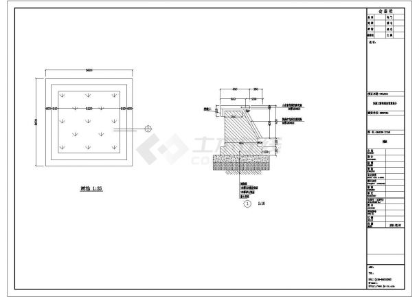 杭州西湖区某桥头公园景观设计CAD图纸-图二