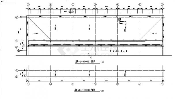 2层1300平米钢筋混凝土结构材料仓库建筑施工cad图纸-图二