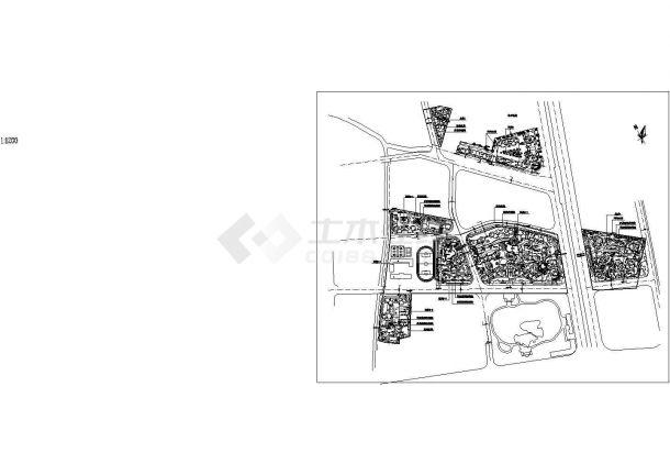 某旧城改造规划设计详细施工方案CAD图纸-图一