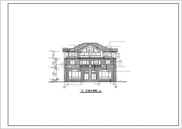 滁州市某村镇三层砖混结构单体别墅楼建筑设计CAD图纸(含半地下室)-图一