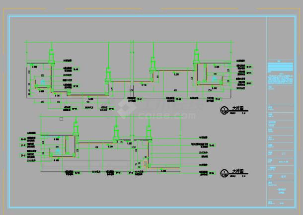 某豪华酒店中餐厅室内装修设计cad全套施工图纸(甲级院设计)-图一
