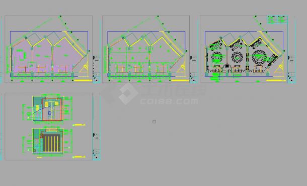 某五星酒店中餐厅包间室内装修设计cad全套施工图(甲级院设计)-图一