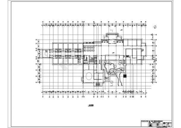 宁海市某温泉度假村三层砖混结构组合式民居休闲别墅建筑设计CAD图纸-图一