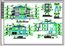 2层独栋别墅建筑设计施工cad全图附效果图-图一