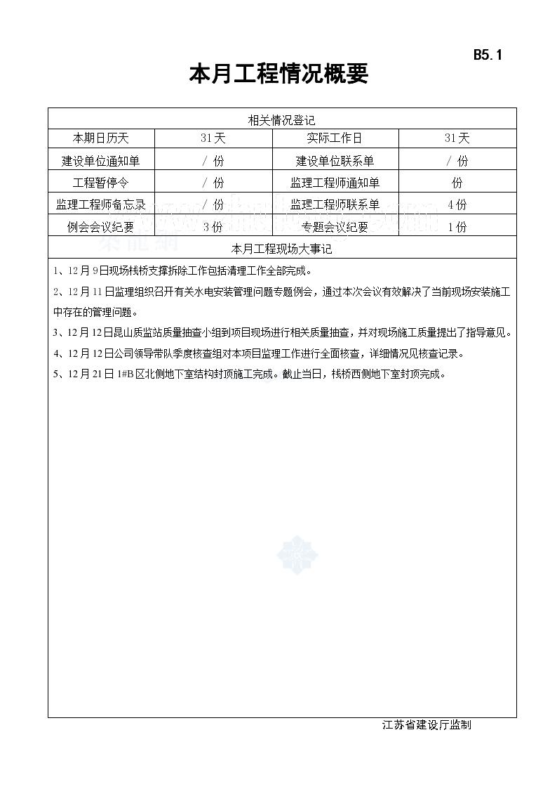 道路工程监理月报(表格式)-图二