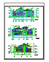 单家独院式两层别墅cad建筑设计施工图附效果图-图二