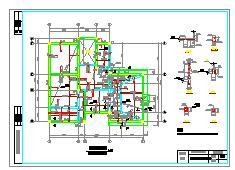 3层独栋别墅cad建筑结构设计施工图附效果图-图二