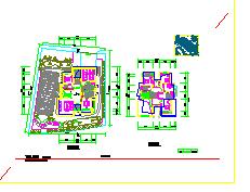 三层别墅cad建筑设计施工图纸带效果图-图一