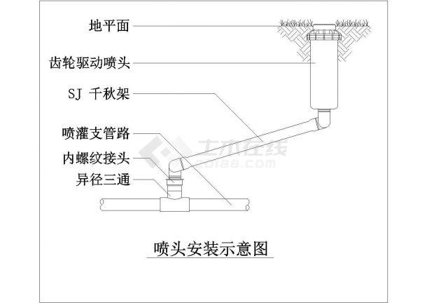 水利设计_西北山区喷灌工程设计CAD图-图二