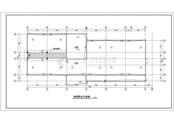 云南某小学全框架结构教学楼建筑设计CAD图(含建筑设计说明)-图一