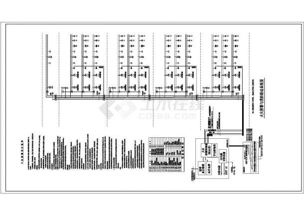 某厂区一大型电子厂房全套电气设计图(新火灾报警系统+水炮控制原理)电气全套图纸-图二