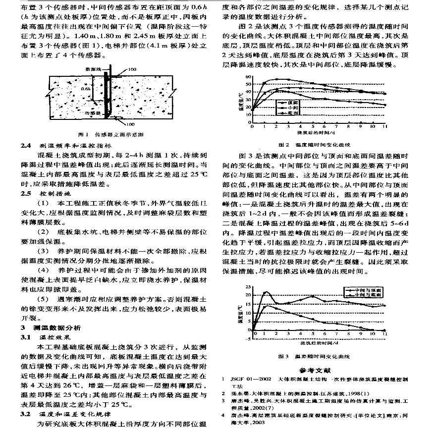 温度实时监控技术在大体积混凝土基础底板工程中的应用-图二