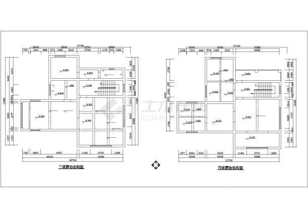 珠海市泾渭新村某4层框架结构独栋别墅全套装修装饰设计CAD图纸-图一